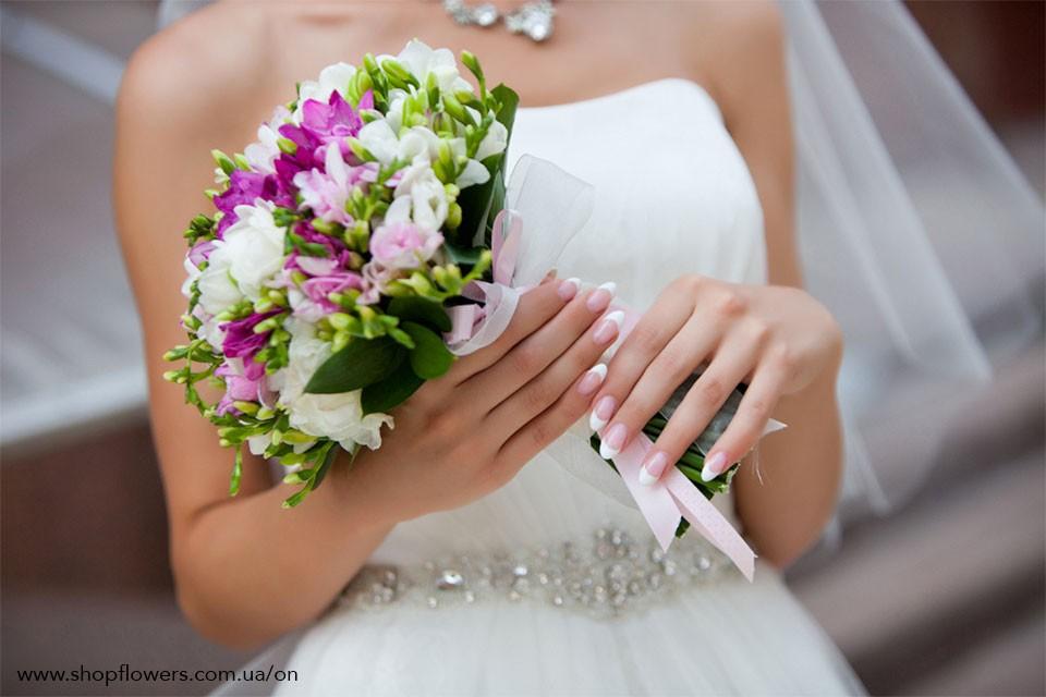 букет невесты позняки