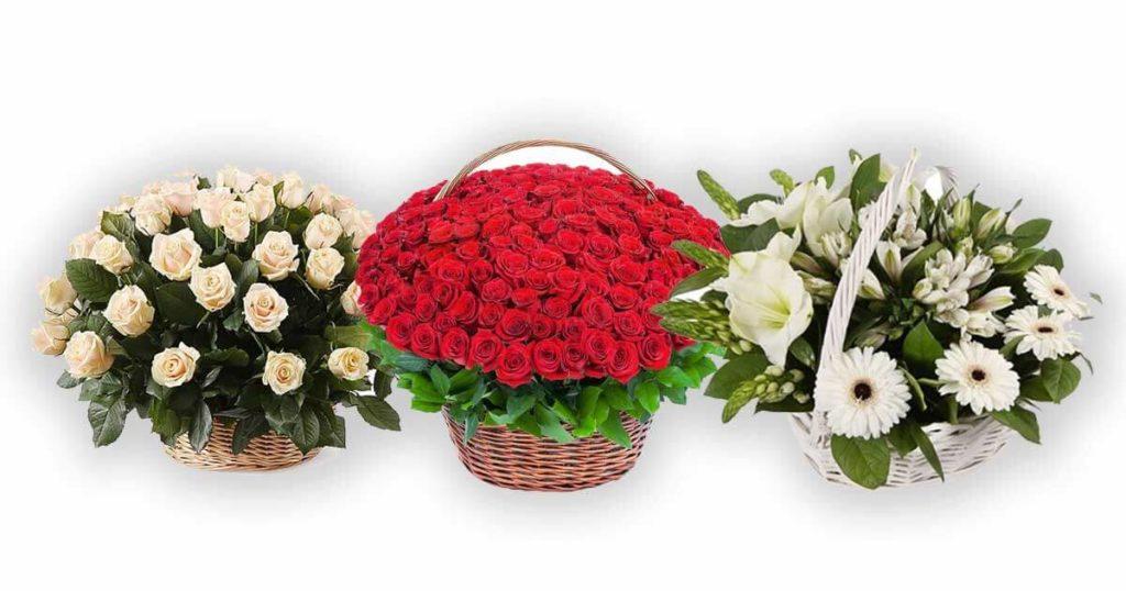Какую корзину цветов выбрать?